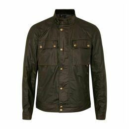 Belstaff Racemaster Olive Coated Cotton Jacket