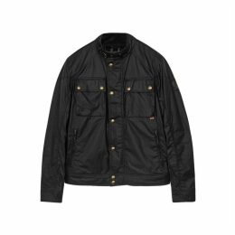 Belstaff Racemaster Black Coated Cotton Jacket
