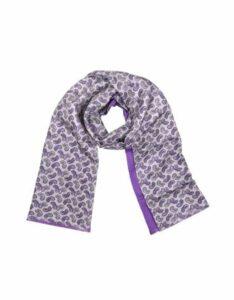Forzieri Designer Men's Scarves, Paisley Print Silk Reversible Men's Scarf