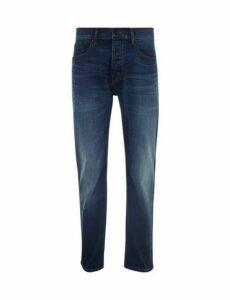 Mens Big & Tall Mid Wash Blue Logan Straight Leg Jeans, Blue