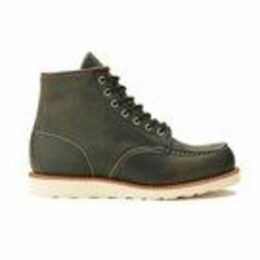 Red Wing Men's 6 Inch Moc Toe Leather Lace Up Boots - Charcoal Rough and Tough
