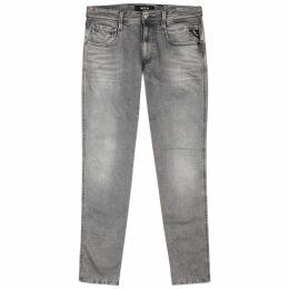 Replay Anbass Hyperflex Grey Slim-leg Jeans