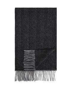 The Men's Store at Bloomingdale's Cashmere Herringbone Scarf - 100% Exclusive