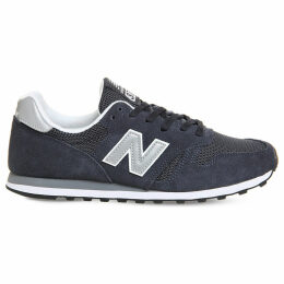 New Balance M373 suede and mesh trainers, Mens, Size: 7, Navy silver