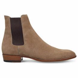 Saint Laurent Wyatt suede Chelsea boots, Mens, Size: EUR 41 / 7 UK MEN, Taupe