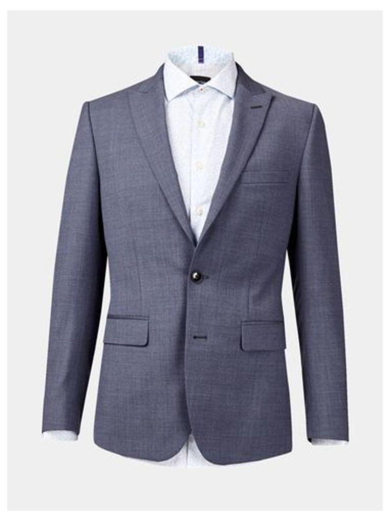5626b1336575 Mens West End by Simon Carter Light Blue Crepe Slim Fit Suit Jacket*, Blue