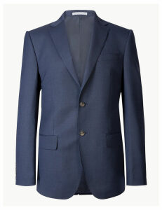 M&S Collection Indigo Textured Regular Fit Jacket