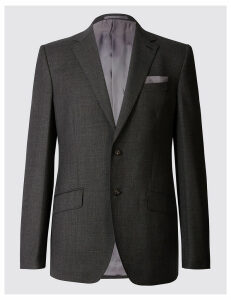 M&S Collection Luxury Textured Regular Fit Wool Jacket