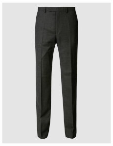 M&S Collection Luxury Textured Regular Fit Wool Trousers
