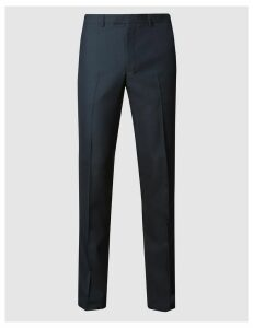 M&S Collection Navy Slim Fit Trousers