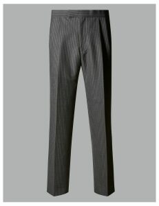 Autograph Charcoal Regular Fit Wool Blend Trousers