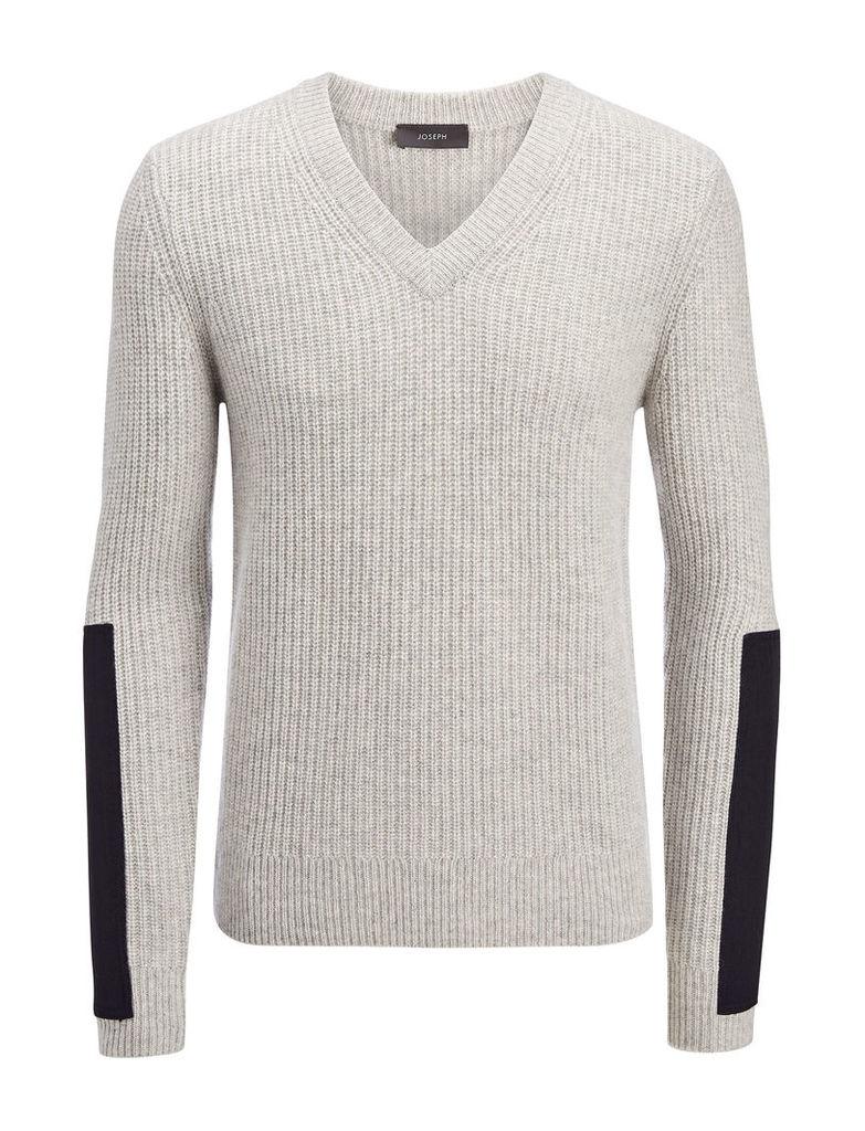 Military Cashmere V Neck Sweater