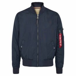 Alpha Industries MA1-TT Blue Shell Bomber Jacket