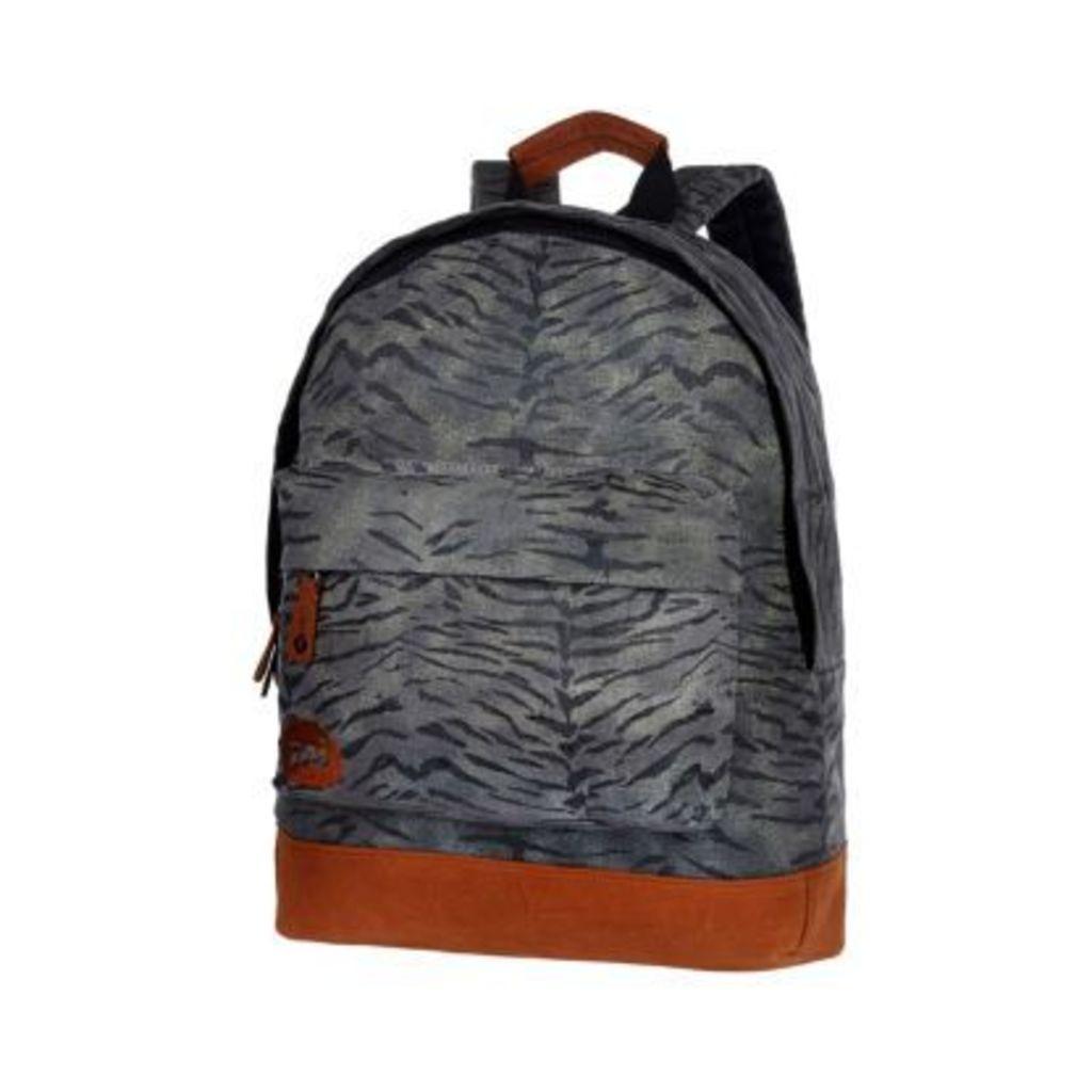 Grey MiPac tiger print backpack