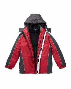 Premier Man Red 3 in 1 Jacket R