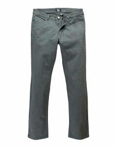 Straight Gaberdine Charcoal Jean 31 in