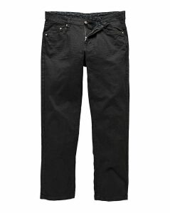 Straight Gaberdine Black Jeans 35 in