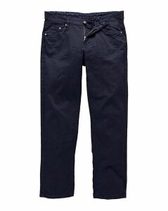 Straight Gaberdine Navy Jeans 33 in