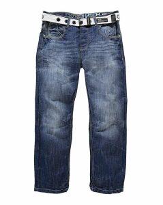 Crosshatch Stonewash Hornet Jeans 33in