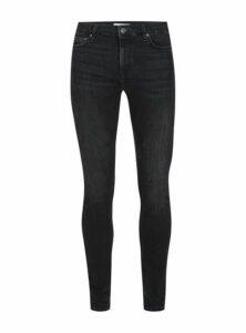 Mens Washed Black Super Spray On Skinny Jeans, Black