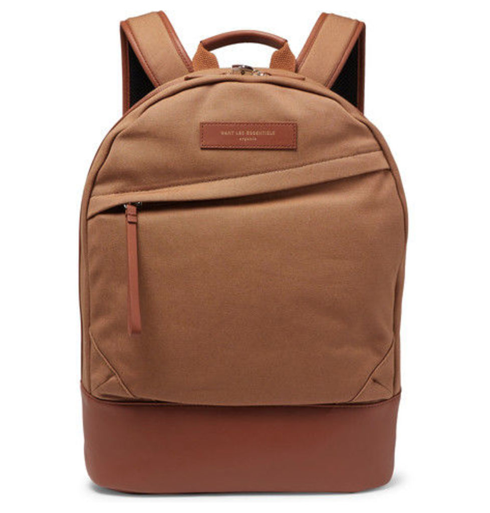 WANT LES ESSENTIELS - Kastrup Leather-trimmed Organic Cotton-canvas Backpack - Tan