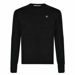 Vivienne Westwood Embroidered Orb Knit Sweatshirt
