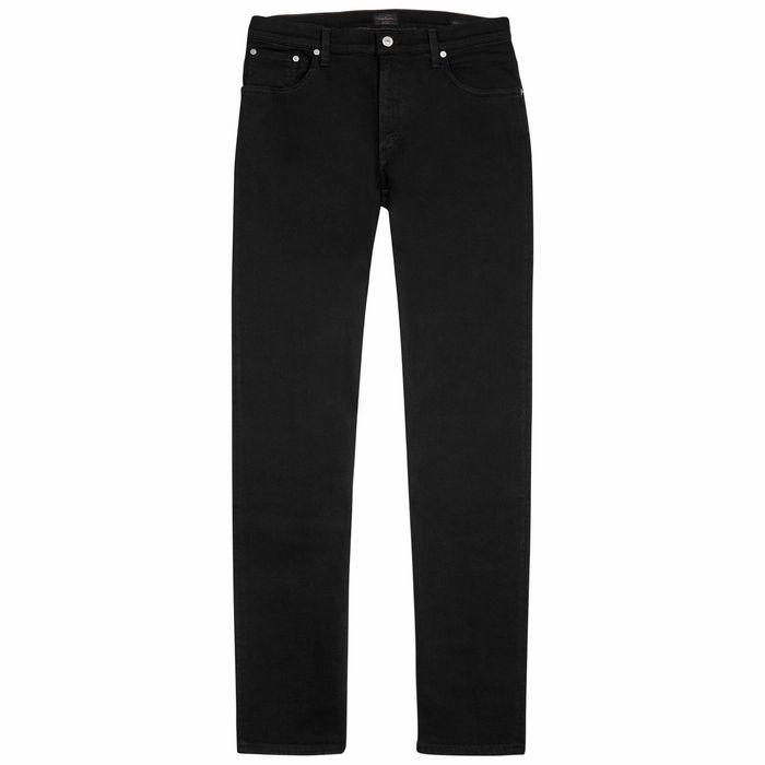 Citizens Of Humanity Bowery Black Slim-leg Jeans