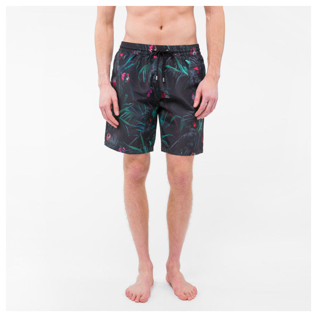 8ab77a827e283 Men's Classic-Fit 'Cockatoo' Print Long Swim Shorts by Paul Smith ...