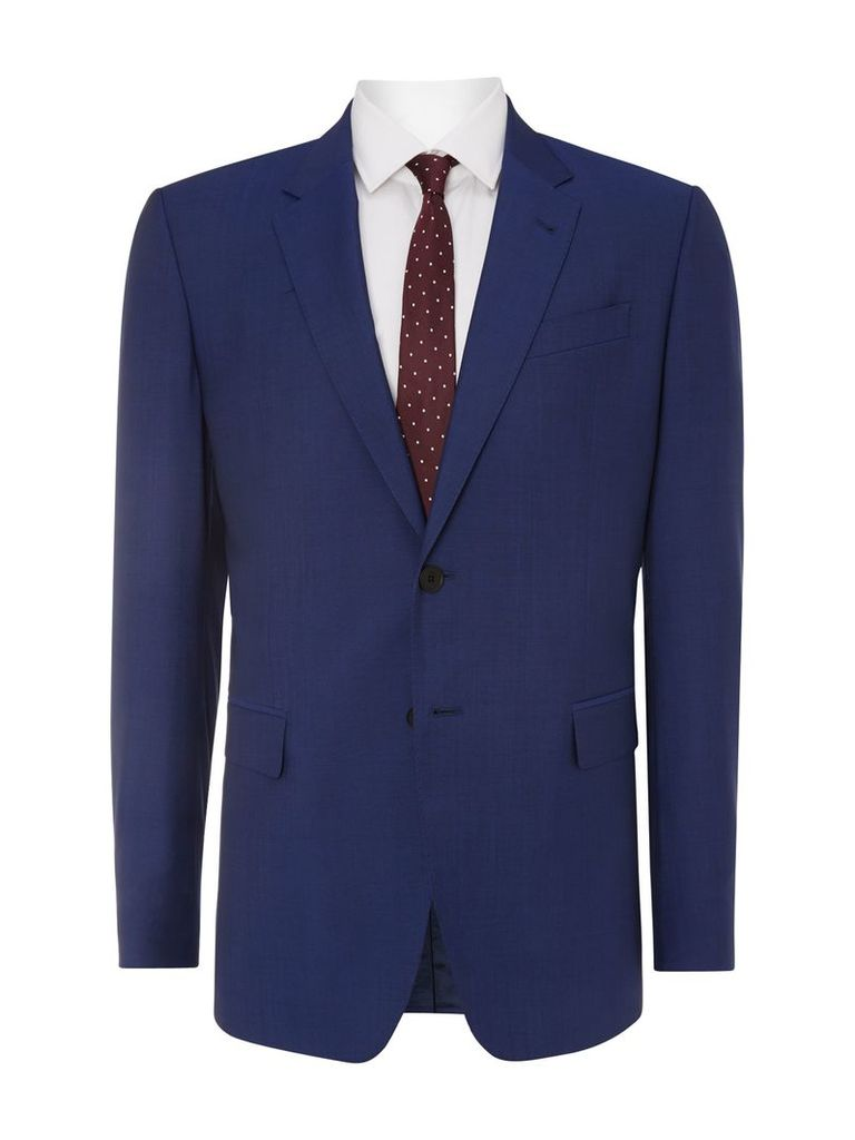 Men's Paul Smith London Byard Slim Fit Wool Mohair Solid Suit, Bright Blue