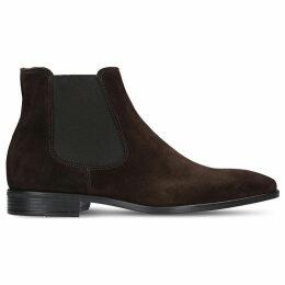 Kurt Geiger London Mens Brown Classic Frederick Suede Chelsea Boots