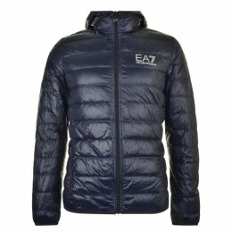 EA7 Bubble Hooded Logo Coat