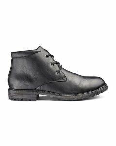 Leather Look Chukka Boots
