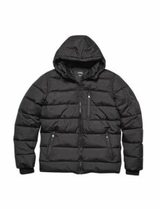 Mens Black Matrix Puffer Jacket, Black