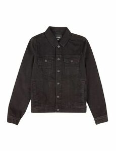 Mens Black Harry Denim Jacket, Black