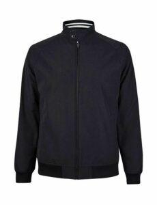 Mens Dark Navy Harrington Jacket, Blue