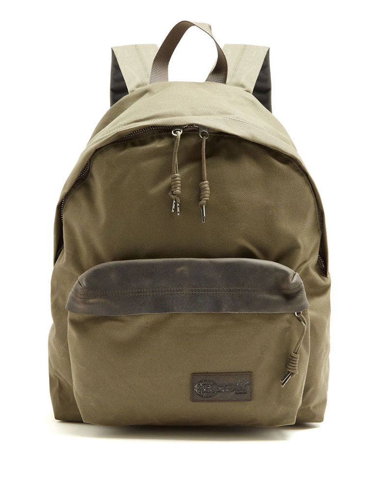 8da69ea2e3 Padded Pak r® Axer leather and canvas backpack by EASTPAK
