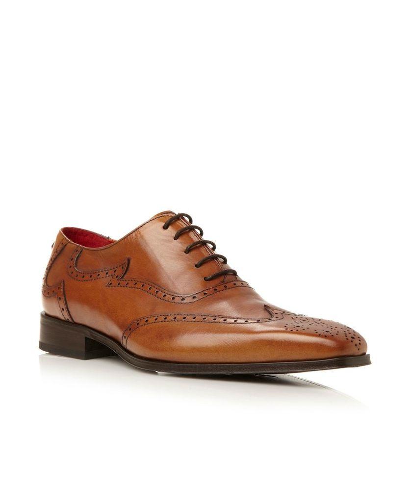 92a2bc83a7 Jeffery West J637 Contrast Wingtip Oxford Shoes, Tan by Jeffery West ...
