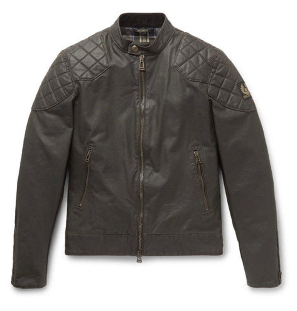 b5586e3ee6 Outlaw Waxed Cotton-blend Blouson Jacket by Belstaff | Snap Fashion ...
