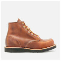 Red Wing Men's 6 Inch Moc Toe Leather Lace Up Boots - Copper Rough and Tough/Black Sole - UK 10/US 11