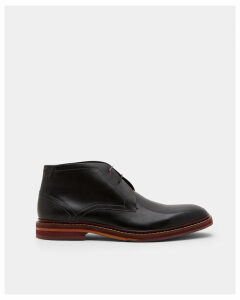 Ted Baker Leather Derby boots Black