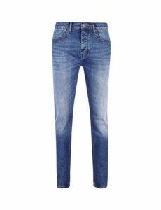 Mens Big & Tall Mid Blue Blake Slim Fit Jeans, Blue