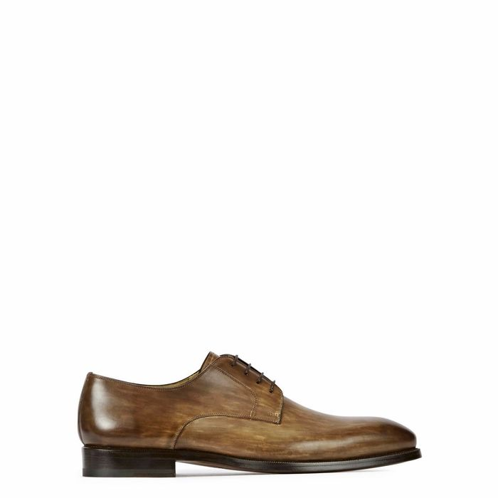 MAGNANNI Brown Leather Derby Shoes
