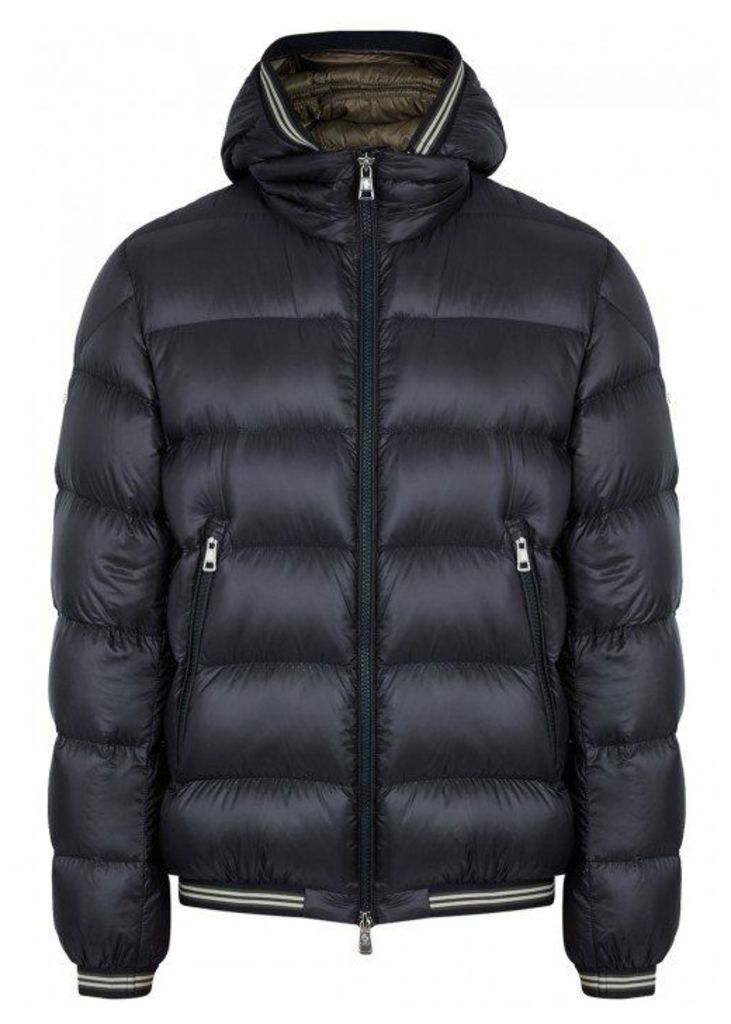 d4d9830d8 Moncler Jeanbart Navy Quilted Shell Jacket by Moncler | Snap Fashion ...