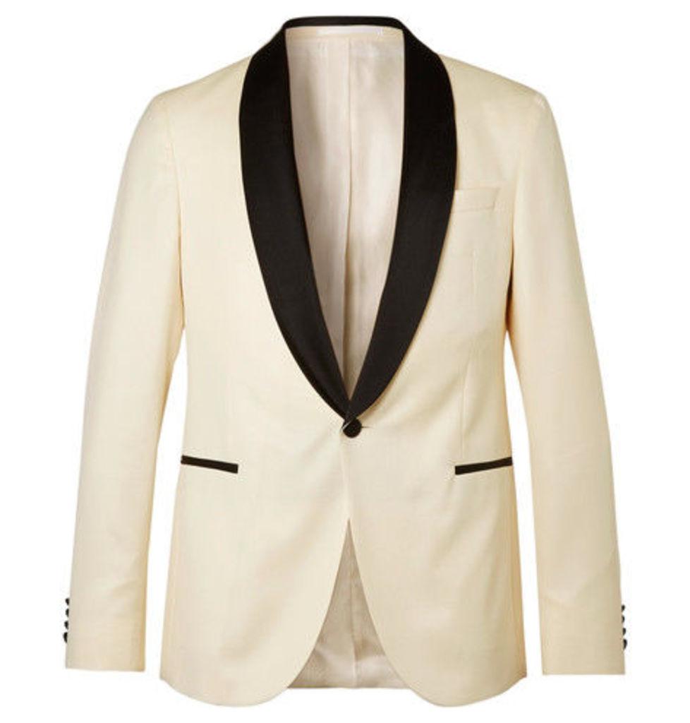 19d12f3d8 Hugo Boss - White Nemir Slim-fit Wool And Silk-blend Tuxedo Jacket ...