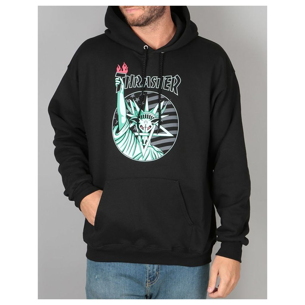 Thrasher Liberty Goat Pullover Hoodie - Black (S) by Thrasher  26c3d4b42cfa