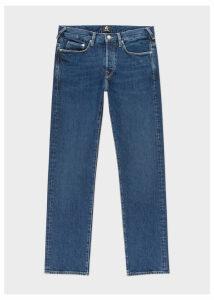 Men's Standard-Fit 'Organic Pepper N Salt' Mid-Wash Denim Jeans