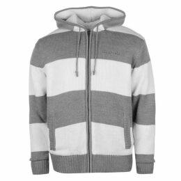 SoulCal Stripe Lined Knit Zip Hoodie