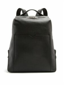 Valextra - Grained-leather Backpack - Mens - Black
