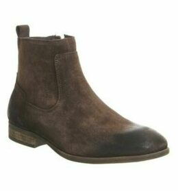 Ask the Missus Envelope Inside Zip Boot CHOCOLATE SUEDE