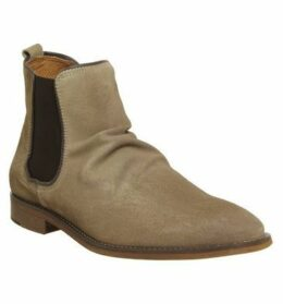 Ask the Missus Edgar Chelsea Boot BEIGE SUEDE